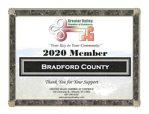 Greater Valley Chamber of Commerce Membership Certificate
