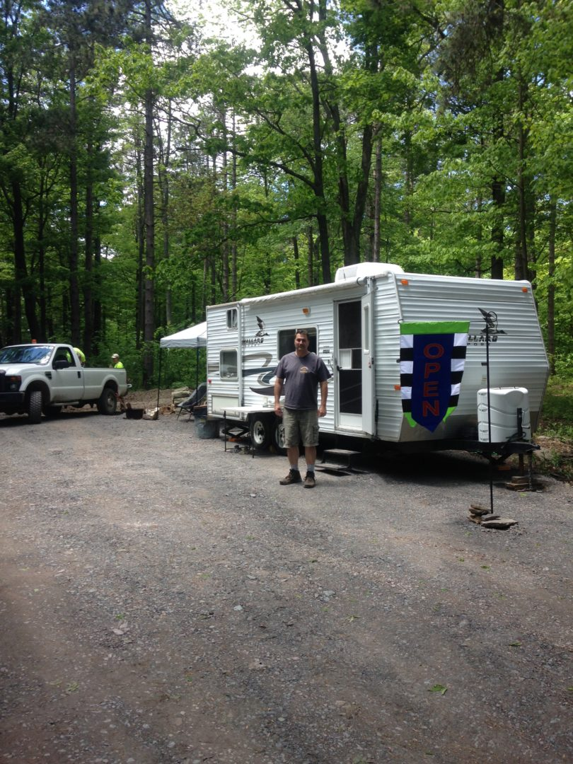 Camper at Mt. Pisgah County Park