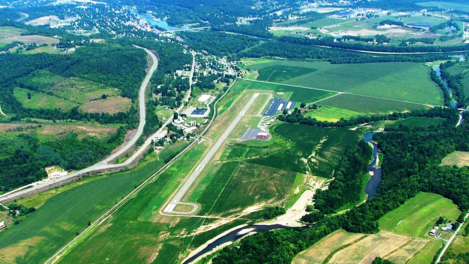 Aerial view of the Bradford County, PA airport